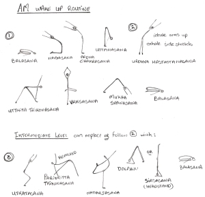 AM Yoga practice